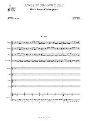Lotti: Missa Sancti Christophori FULL SCORE