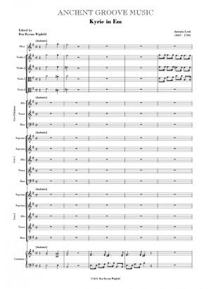 Lotti: Kyrie in E minor SCORE