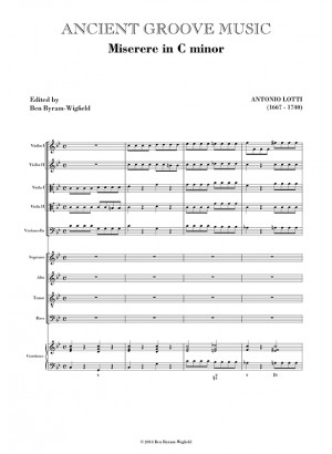 Lotti: Miserere mei in C minor FULL SCORE