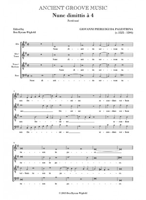 Palestrina: Nunc dimittis  for men's voices