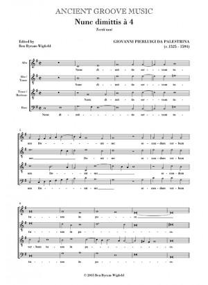 Palestrina: Nunc dimittis  for men's voices