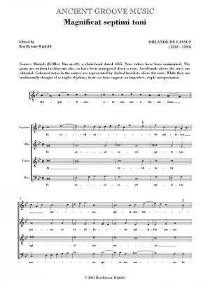 Lassus: Magnificat & Nunc dimittis Septimi toni
