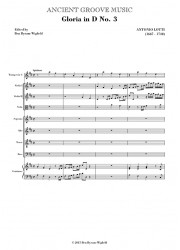 Lotti: Gloria in D No. 3 SCORE
