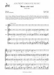 Lotti: Messa a tre voci No. 1