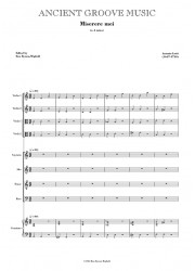 Lotti: Miserere mei in A minor FULL SCORE