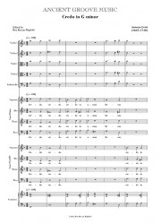 Lotti: Credo in G minor FULL SCORE