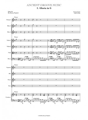Lotti: Gloria in G FULL SCORE
