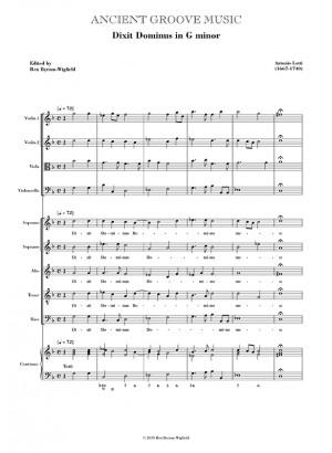 Lotti: Dixit Dominus in G minor SCORE