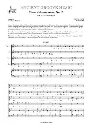 Lotti: Messa del sesto tuono No. 2