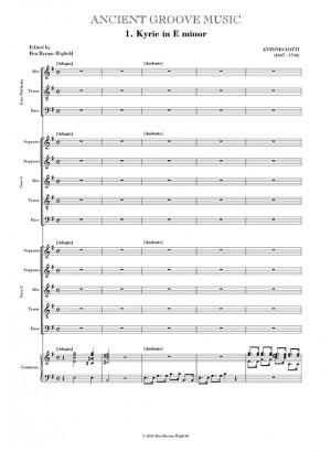 Lotti: Missa Vide Domine laborem meum VOCAL SCORE