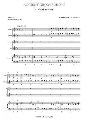 Scarlatti, A: Stabat mater (SA soli) SCORE