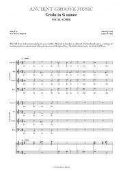 Lotti: Credo in G minor VOCAL SCORE