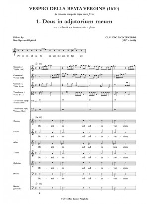 Monteverdi: Vespro della Beata Vergine 1610 SCORE