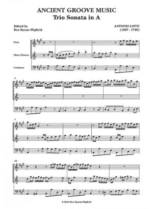 Lotti: Trio Sonata in A SCORE