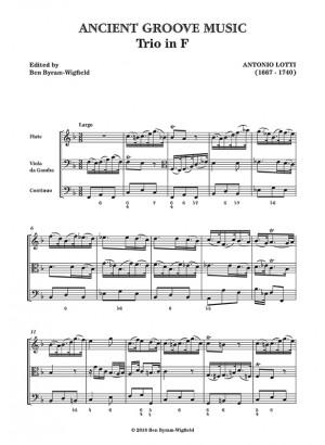 Lotti: Trio Sonata in F